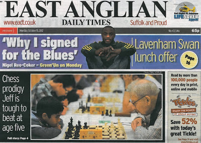 Chess is front page news!